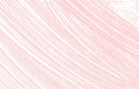 Grunge texture. Distress pink rough trace. Fascinating background. Noise dirty grunge texture. Attractive artistic surface. Vector illustration.