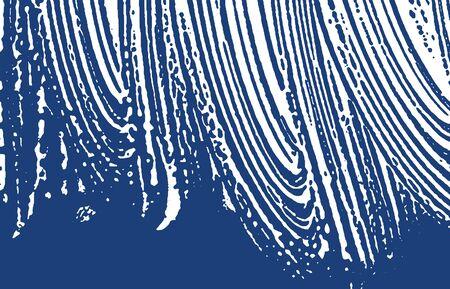 Grunge texture. Distress indigo rough trace. Exotic background. Noise dirty grunge texture. Captivating artistic surface. Vector illustration. Illusztráció