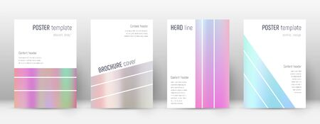 Flyer layout. Geometric original template for Brochure, Annual Report, Magazine, Poster, Corporate Presentation, Portfolio, Flyer. Alluring pastel hologram cover page.