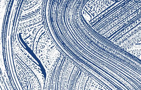 Grunge texture. Distress indigo rough trace. Elegant background. Noise dirty grunge texture. Breathtaking artistic surface. Vector illustration.