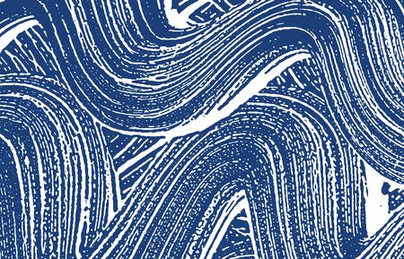 Grunge texture. Distress indigo rough trace. Exceptional background. Noise dirty grunge texture. Trending artistic surface. Vector illustration.