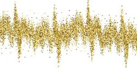 Gold glitter luxury sparkling confetti. Scattered small gold particles on white background. Beauteous festive overlay template. Elegant vector illustration. Archivio Fotografico - 133827034
