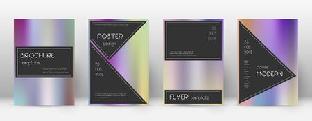 Flyer layout. Black imaginative template for Brochure, Annual Report, Magazine, Poster, Corporate Presentation, Portfolio, Flyer. Actual color gradients cover page. Archivio Fotografico - 133827201