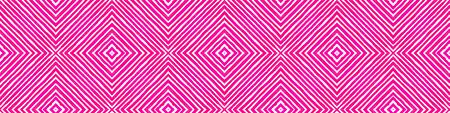 Pink red Seamless Border Scroll. Geometric Watercolor Frame. Appealing Seamless Pattern. Medallion Repeated Tile. Exotic Chevron Ribbon Ornament. Archivio Fotografico - 133827432