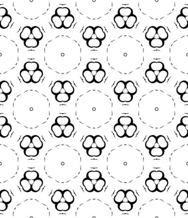Black and white circles seamless pattern. Hand drawn watercolor ornament. Actual repeating design. Immaculate fabric cloth, swimwear design, wallpaper wrapping. Archivio Fotografico - 133827440