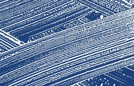 Grunge texture. Distress indigo rough trace. Extraordinary background. Noise dirty grunge texture. Artistic artistic surface. Vector illustration.