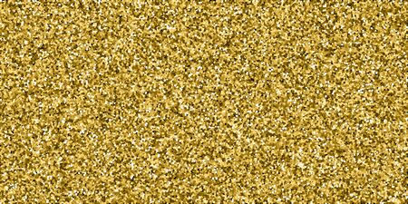 Gold glitter luxury sparkling confetti. Scattered small gold particles on black background. Captivating festive overlay template. Fancy vector illustration. Vettoriali