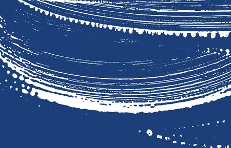 Grunge texture. Distress indigo rough trace. Enchanting background. Noise dirty grunge texture. Memorable artistic surface. Vector illustration.