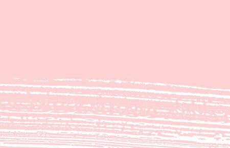 Grunge texture. Distress pink rough trace. Fresh background. Noise dirty grunge texture. Great artistic surface. Vector illustration.
