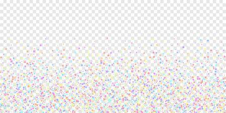 Festive confetti. Celebration stars. Colorful stars on transparent background. Dramatic festive overlay template. Ecstatic vector illustration.