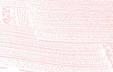 Grunge texture. Distress pink rough trace. Fine background. Noise dirty grunge texture. Ecstatic artistic surface. Vector illustration.