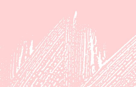 Grunge texture. Distress pink rough trace. Graceful background. Noise dirty grunge texture. Rare artistic surface. Vector illustration.