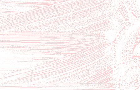 Grunge texture. Distress pink rough trace. Fascinating background. Noise dirty grunge texture. Emotional artistic surface. Vector illustration.