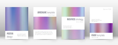 Flyer layout. Minimalistic mind-blowing template for Brochure, Annual Report, Magazine, Poster, Corporate Presentation, Portfolio, Flyer. Artistic color gradients cover page.