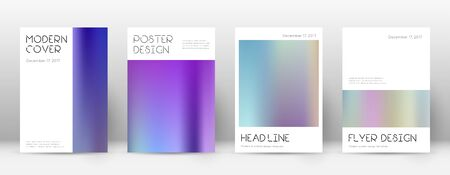 Flyer layout. Minimal symmetrical template for Brochure, Annual Report, Magazine, Poster, Corporate Presentation, Portfolio, Flyer. Amusing color gradients cover page.