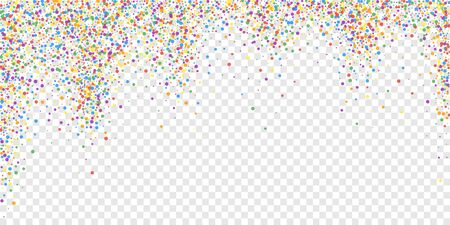 Festive confetti. Celebration stars. Joyous confetti on transparent background. Delightful festive overlay template. Breathtaking vector illustration.  イラスト・ベクター素材