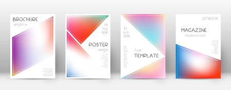 Flyer layout. Triangle magnetic template for Brochure, Annual Report, Magazine, Poster, Corporate Presentation, Portfolio, Flyer. Beautiful bright cover page.
