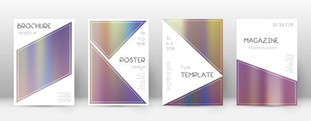 Flyer layout. Triangle pleasant template for Brochure, Annual Report, Magazine, Poster, Corporate Presentation, Portfolio, Flyer. Beautiful bright hologram cover page.