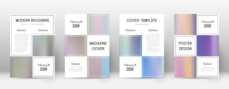 Flyer layout. Business charming template for Brochure, Annual Report, Magazine, Poster, Corporate Presentation, Portfolio, Flyer. Adorable color gradients cover page.