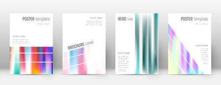 Flyer layout. Geometric memorable template for Brochure, Annual Report, Magazine, Poster, Corporate Presentation, Portfolio, Flyer. Alluring lines cover page.