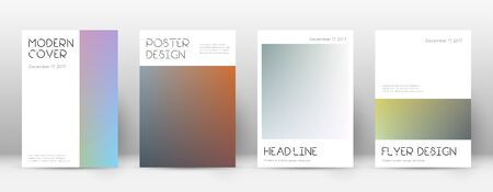 Flyer layout. Minimal captivating template for Brochure, Annual Report, Magazine, Poster, Corporate Presentation, Portfolio, Flyer. Appealing color transition cover page.
