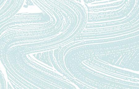 Grunge texture. Distress blue rough trace. Curious background. Noise dirty grunge texture. Fantastic artistic surface. Vector illustration. Ilustração