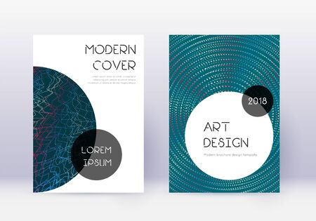 Trendy cover design template set. Red abstract lines on white blue background. Grand cover design. Magnificent catalog, poster, book template etc.