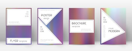 Flyer layout. Stylish mind-blowing template for Brochure, Annual Report, Magazine, Poster, Corporate Presentation, Portfolio, Flyer. Authentic bright hologram cover page.