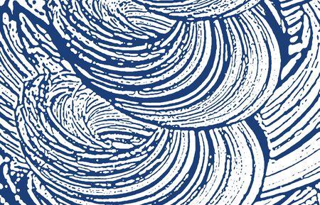 Grunge texture. Distress indigo rough trace. Delightful background. Noise dirty grunge texture. Rare artistic surface. Vector illustration. Ilustração