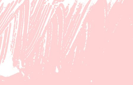 Grunge texture. Distress pink rough trace. Favorable background. Noise dirty grunge texture. Fabulous artistic surface. Vector illustration.