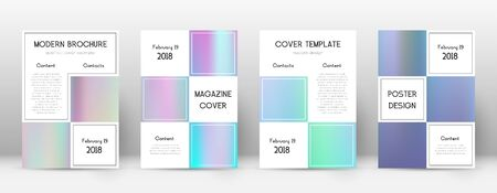 Flyer layout. Business classic template for Brochure, Annual Report, Magazine, Poster, Corporate Presentation, Portfolio, Flyer. Alive pastel hologram cover page. 向量圖像