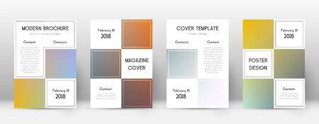 Flyer layout. Business energetic template for Brochure, Annual Report, Magazine, Poster, Corporate Presentation, Portfolio, Flyer. Adorable color transition cover page. Vektoros illusztráció