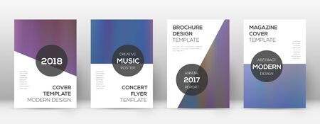 Flyer layout. Modern surprising template for Brochure, Annual Report, Magazine, Poster, Corporate Presentation, Portfolio, Flyer. Astonishing bright hologram cover page.