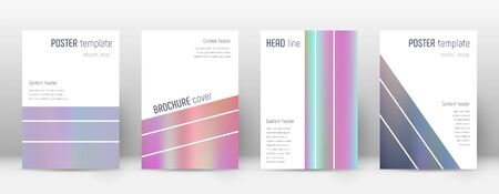 Geometric overwhelming template for Brochure, Annual Report, Magazine, Poster, Corporate Presentation, Portfolio, Flyer. Alluring pastel hologram cover page. Illusztráció