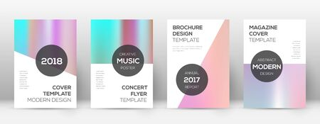 Flyer layout. Modern bewitching template for Brochure, Annual Report, Magazine, Poster, Corporate Presentation, Portfolio, Flyer. Authentic pastel hologram cover page.