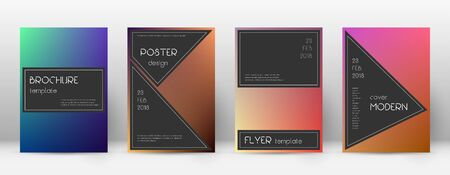 Flyer layout. Black astonishing template for Brochure, Annual Report, Magazine, Poster, Corporate Presentation, Portfolio, Flyer. Admirable gradient cover page.