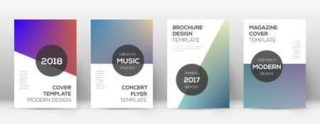Flyer layout. Modern pleasing template for Brochure, Annual Report, Magazine, Poster, Corporate Presentation, Portfolio, Flyer. Attractive gradient cover page.