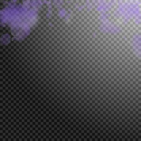 Violet flower petals falling down. Admirable romantic flowers gradient. Flying petal on transparent square background. Love, romance concept. Charming wedding invitation. Vettoriali