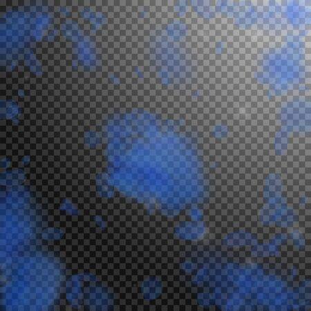 Dark blue flower petals falling down. Marvelous romantic flowers explosion. Flying petal on transparent square background. Love, romance concept. Appealing wedding invitation.