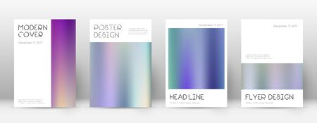 Flyer layout. Minimal tempting template for Brochure, Annual Report, Magazine, Poster, Corporate Presentation, Portfolio, Flyer. Amusing color gradients cover page. Çizim
