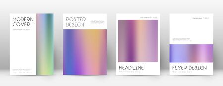 Flyer layout. Minimal unusual template for Brochure, Annual Report, Magazine, Poster, Corporate Presentation, Portfolio, Flyer. Amusing color gradients cover page. Çizim