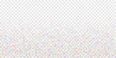 Festive confetti. Celebration stars. Colorful stars small on transparent background. Dramatic festive overlay template. Fabulous vector illustration.