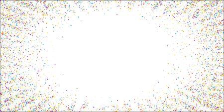 Festive confetti. Celebration stars. Childish bright stars on white background. Elegant festive overlay template. Rare vector illustration.