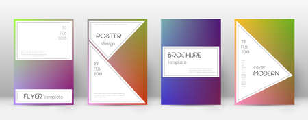 Flyer layout. Stylish glamorous template for Brochure, Annual Report, Magazine, Poster, Corporate Presentation, Portfolio, Flyer. Awesome gradient cover page. Ilustração