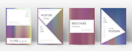 Flyer layout. Stylish nice template for Brochure, Annual Report, Magazine, Poster, Corporate Presentation, Portfolio, Flyer. Authentic bright hologram cover page.