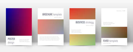 Flyer layout. Minimalistic curious template for Brochure, Annual Report, Magazine, Poster, Corporate Presentation, Portfolio, Flyer. Astonishing gradient cover page.