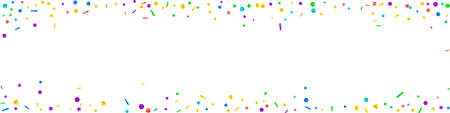 Festive alluring confetti. Celebration stars. Festive confetti on white background. Alive festive overlay template. Panoramic vector background.