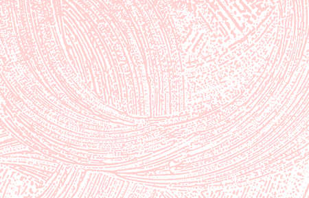 Grunge texture. Distress pink rough trace. Fine background. Noise dirty grunge texture. Remarkable artistic surface. Vector illustration.