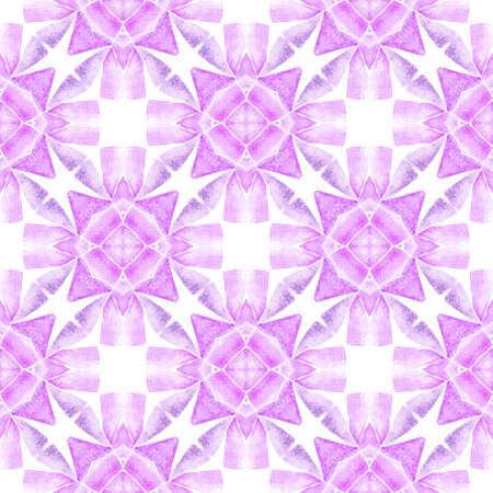 Organic tile. Purple pretty boho chic summer design. Textile ready artistic print, swimwear fabric, wallpaper, wrapping.  Trendy organic green border.