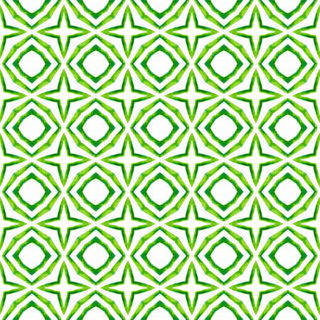 Textile ready precious print, swimwear fabric, wallpaper, wrapping.  Green marvelous boho chic summer design. Organic tile. Trendy organic green border.